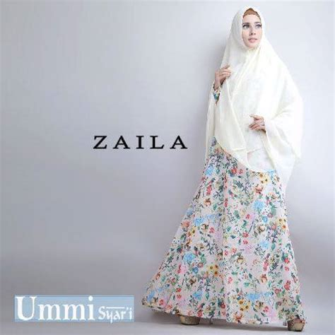 Baju Muslim Rosma zaila broken white baju muslim gamis modern