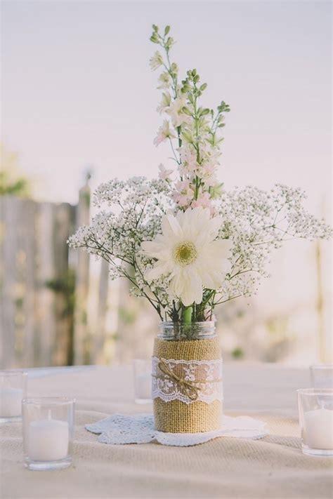 burlap and lace centerpieces 25 best ideas about lace wedding centerpieces on