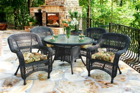 Wicker Patio Dining Sets Tortuga Outdoor Portside 5 Wicker Dining Set Wickercentral