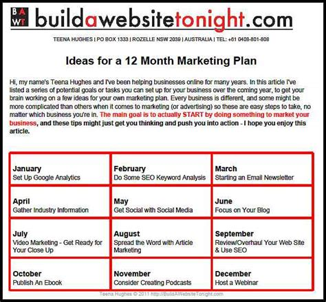 12 month marketing plan template 12 month business plan pdfeports585 web fc2