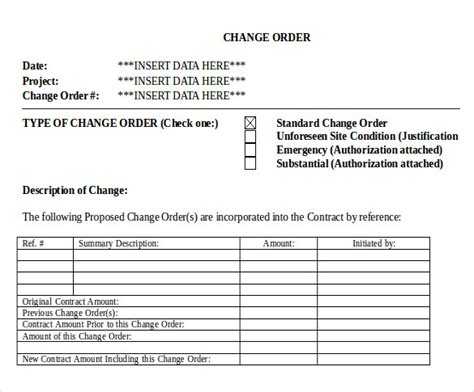 24 Change Order Templates Pdf Doc Free Premium Templates Change Order Document Template