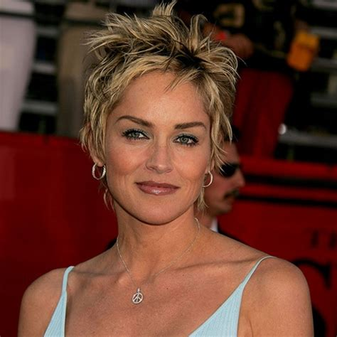 how to style sharon stones short hair style sharon stone pixie haircut