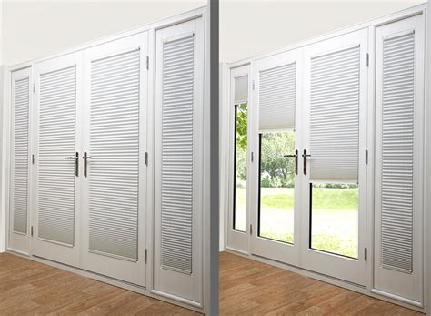 Fiberglass French Doors With Built In Blinds Prefab Fiberglass Patio Doors With Built In Blinds
