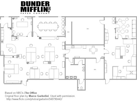 dunder mifflin floor plan the office scranton pre merger