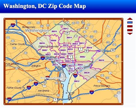 Zip Code Maps Dc | zip code dc washington map