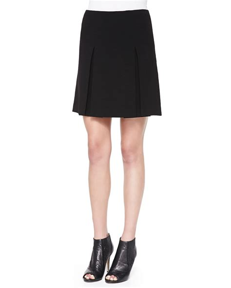 marc by marc yumi pleated crepe skirt in black lyst