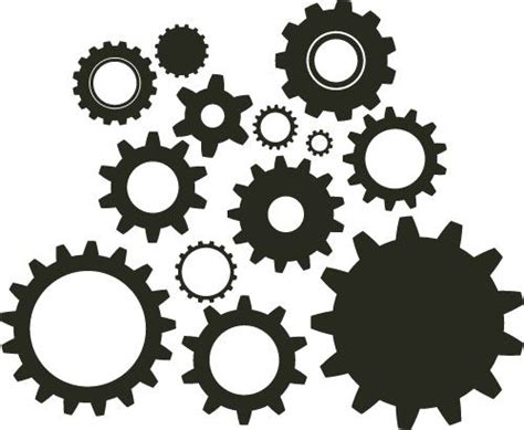 printable gear stencils gears clipart diy steunk cogs silhouette patterns