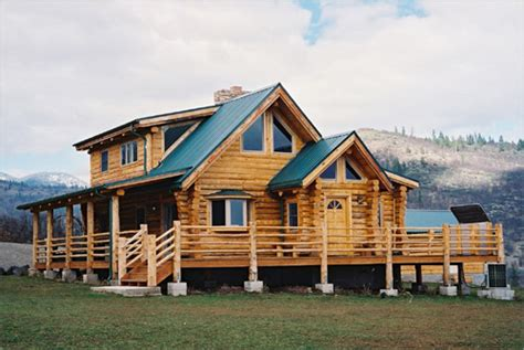 shasta log home model by homestead log homes