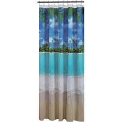 Beachy Shower Curtains Mainstays Photoreal Peva Shower Curtain Walmart
