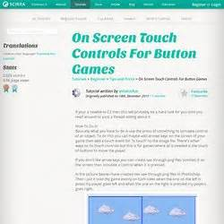 construct 2 touch controls tutorial construct 2 learning pearltrees