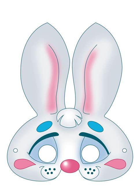 printable rabbit mask template image detail for free printable carnival masks for kids