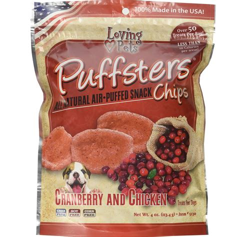 are cranberries for dogs loving pets puffsters cranberry chicken treats for dogs 4 oz