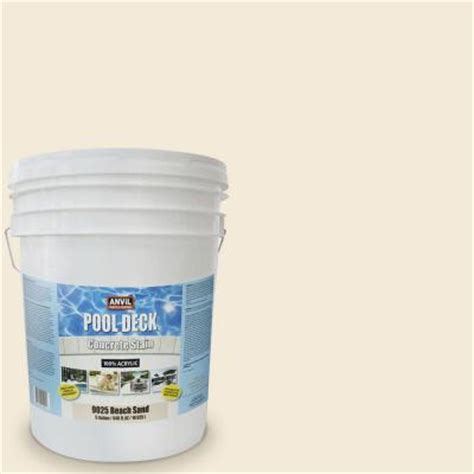 anvil 5 gal sand acrylic solid color pool deck