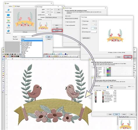 svg bitmap pattern fill puncher level wings xp experience 6 embroidery software