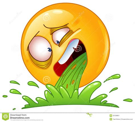 throwing up vomiting emoticon royalty free stock photography image 33108867