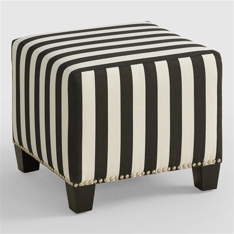 black and white striped ottoman canopy stripe mckenzie ottoman world market