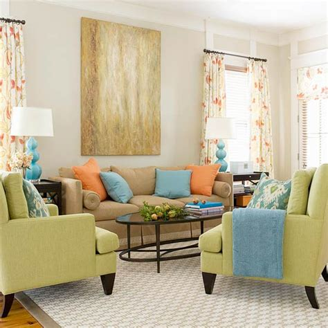 Blue Living Room Orange Accents 15 Green Living Room Design Ideas