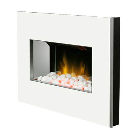 clova black white 2kw wall mounted electric fire model