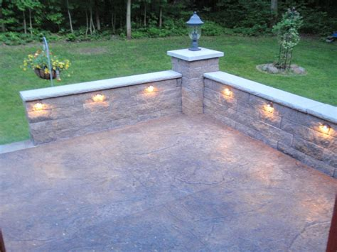 stone knee wall for patio retaining wall image 2