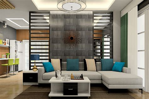 partition room living room sofa with partition wall