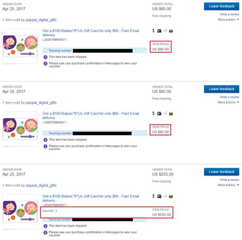 Where To Get Babies R Us Gift Cards - psa stuck in paypal verification loop try several small orders