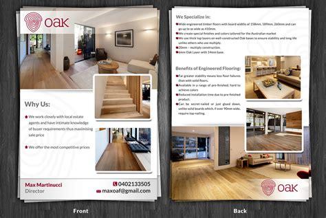 flyer design melbourne upmarket professional flyer design for melbourne oak