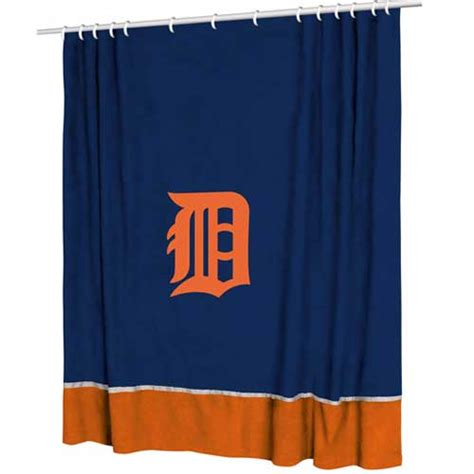 detroit tigers shower curtain detroit tigers mlb microsuede shower curtain