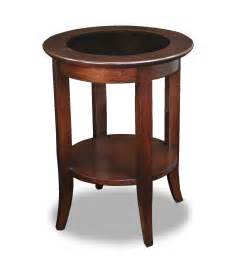 Wooden End Tables Leick Solid Wood Glass Top End Table 10036