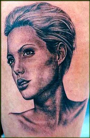 angelina jolie portrait tattoo looking for unique realistic tattoos tattoos angelina