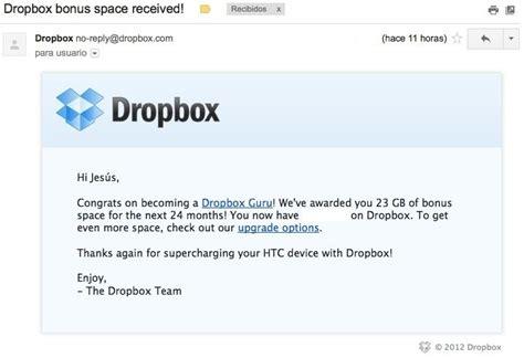 dropbox gb 191 quieres 23 gb m 225 s en dropbox gratis sssh sigue nuestra