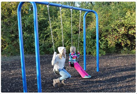 arch swing 3 5 quot od arch frame swing playground equipment for
