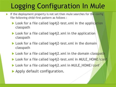 log4j2 pattern xml logging configuration in mule