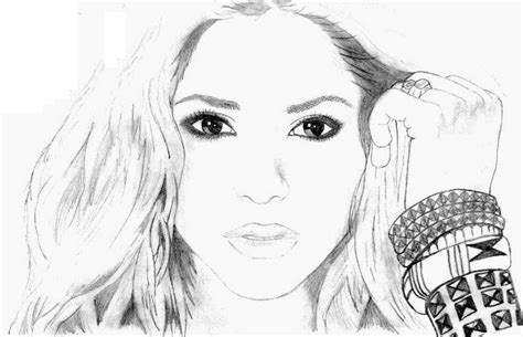 coloring page famous people shakira 1