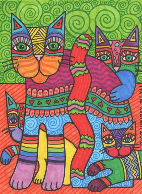 pattern cat art lesson 31 best images about laurel burch on pinterest indigo
