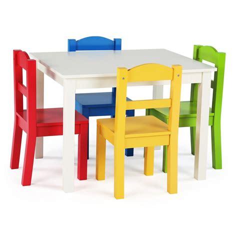 tot tutors summit  piece whiteprimary kids table  chair set tc  home depot