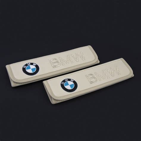 bmw seat belt cover bmw leather seat belt covers pads emblem embroidery