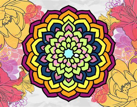 petali di fiore disegno mandala petali di fiori colorato da utente non