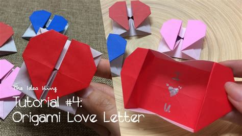 youtube tutorial origami love how to make origami love letter step by step the idea