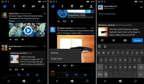 themes new mobile the latest twitter update for windows 10 mobile looks