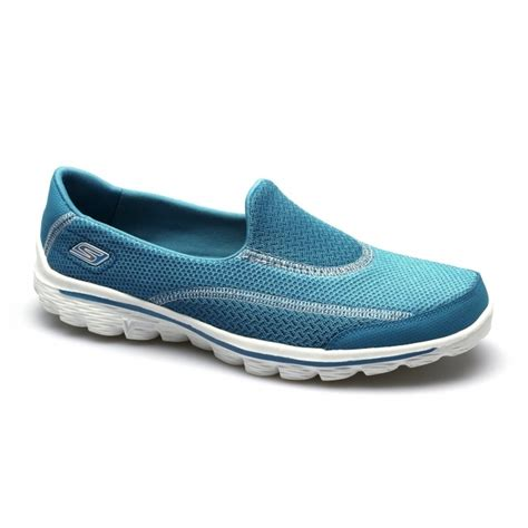 Kickers Spark Suede skechers go walk 2 spark womens soft trainers turquoise
