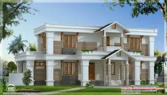 modern mix sloping roof home design 2650 sq feet