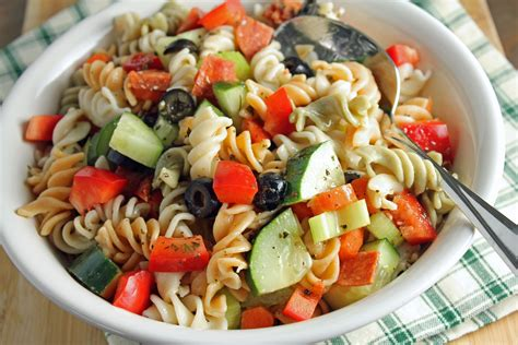 cold pasta salad with italian dressing italian pasta salad recipe dishmaps