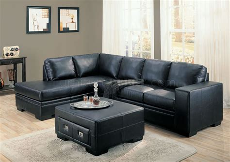 black bonded leather sectional black or cream full bonded leather contemporary sectional sofa