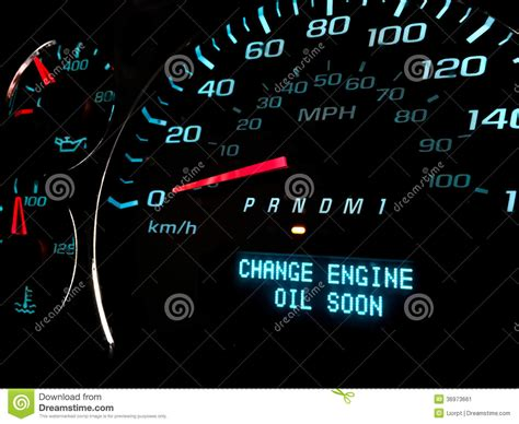 reset oil change light change oil soon warning light stock image image 36973661