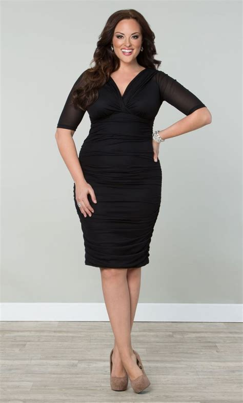 betsey ruched dress black womens plus size
