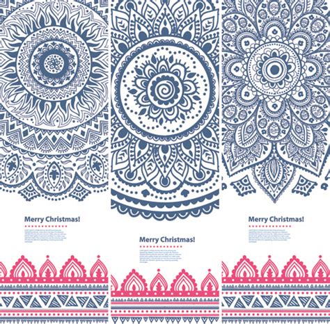 ethnic pattern vector free download christmas ethnic pattern banner vector free vector in