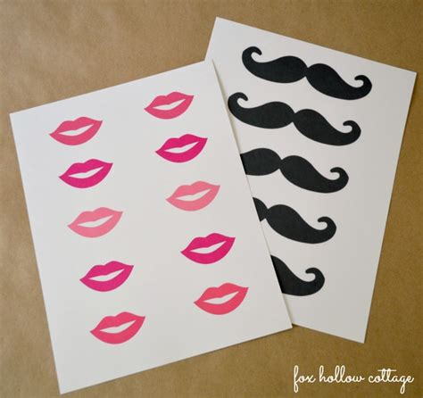 free printable moustache and lips photo booth props free lip and mustache printables photo booth props fox