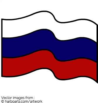 russian flag template russian flag wave vector graphic