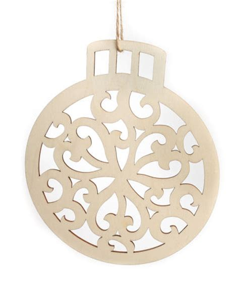 unfinished wood laser cut christmas ornament christmas