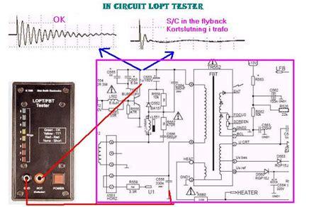 Flyback Tester Fbt Tester Lopt Tester in curcuit lopt